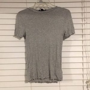 Grey Frilled T-Shirt